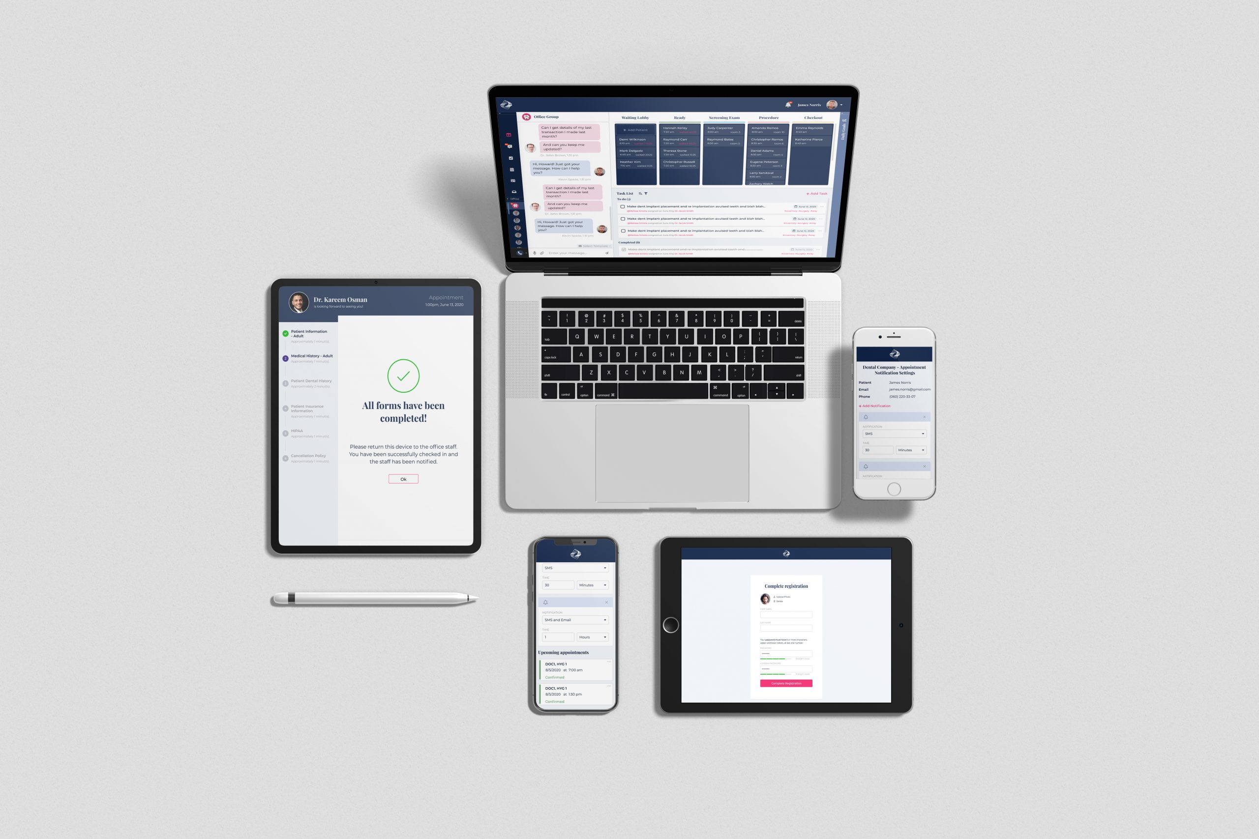 Multi Devices Mockup Top Angle View